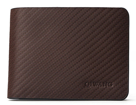Real Leather Men's Wallet With Carbon Pattern - Zorket