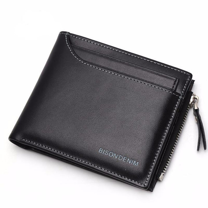 Functional Genuine Leather Men's Card Holder