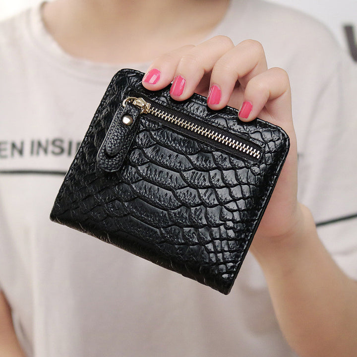 Women's Mini Short PU Leather Wallet Purse - Zorket