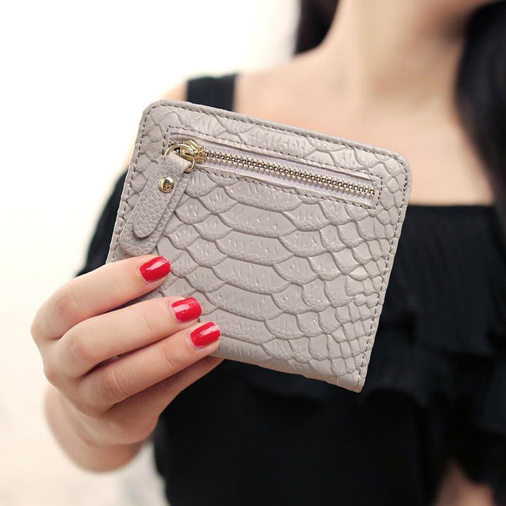 Women's Mini Short PU Leather Wallet Purse