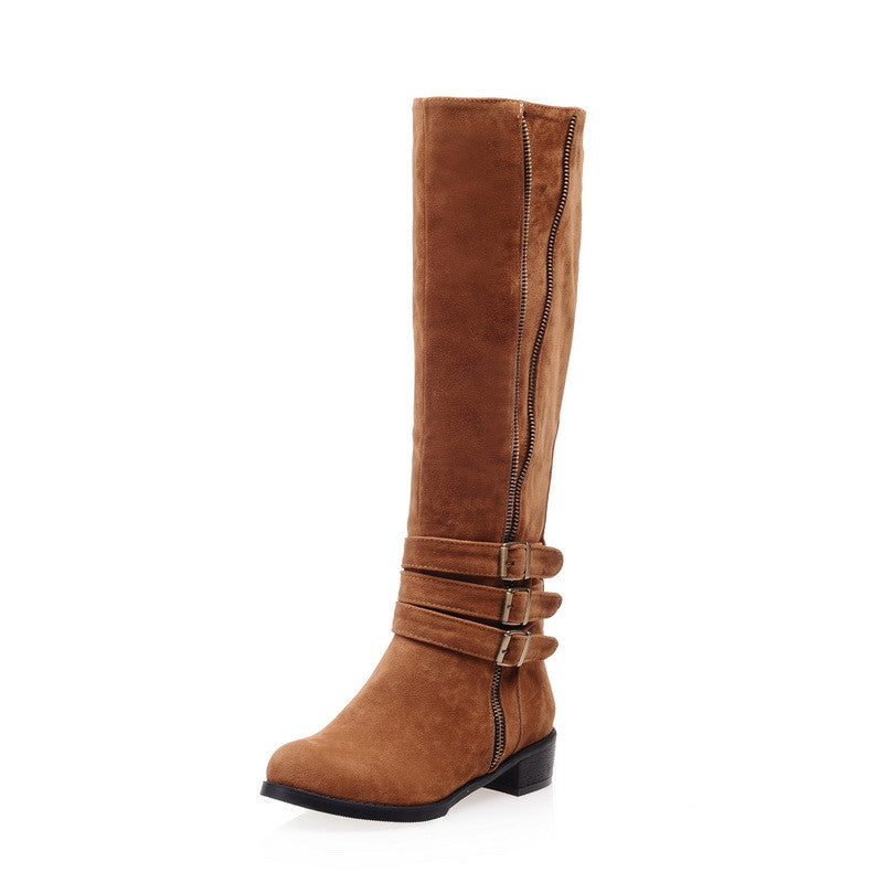 Boots – Fashion Women's Square Heels High Boots For Winter | Zorket