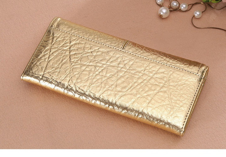 Women's Genuine Leather Vintage Long Wallet - Zorket