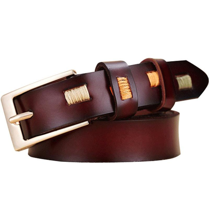 Luxury Women's Leather Pin Buckle Belt