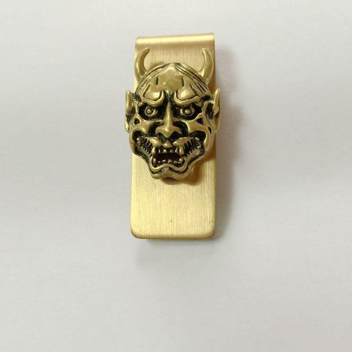 Hip-Hop Bronze 3D Human Skull Money Clip