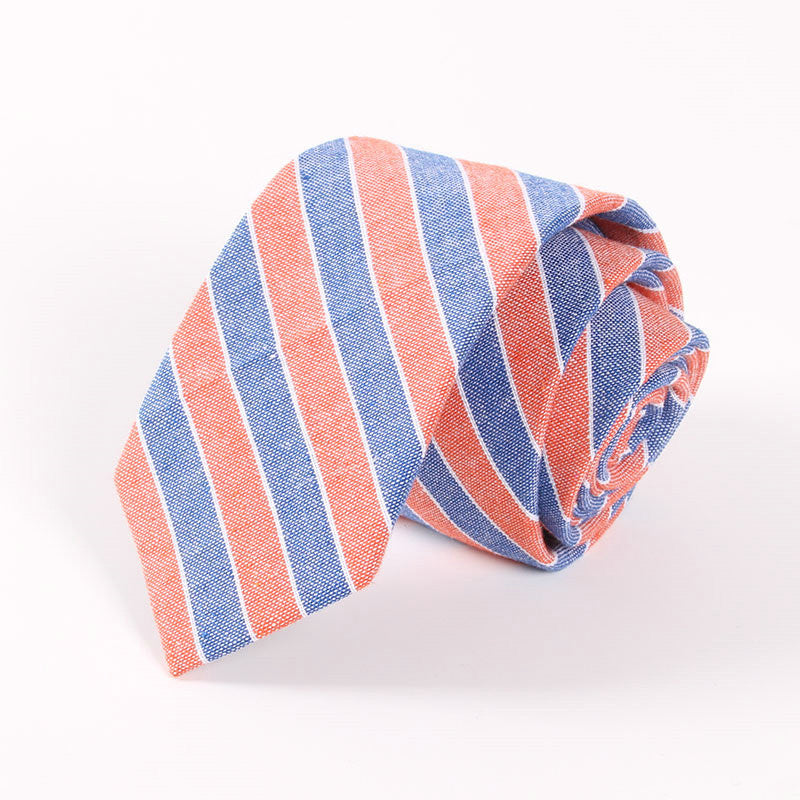Cotton Plaid Stripe Men's Necktie - Zorket