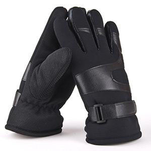 Winter PU Leather Gloves For Men's