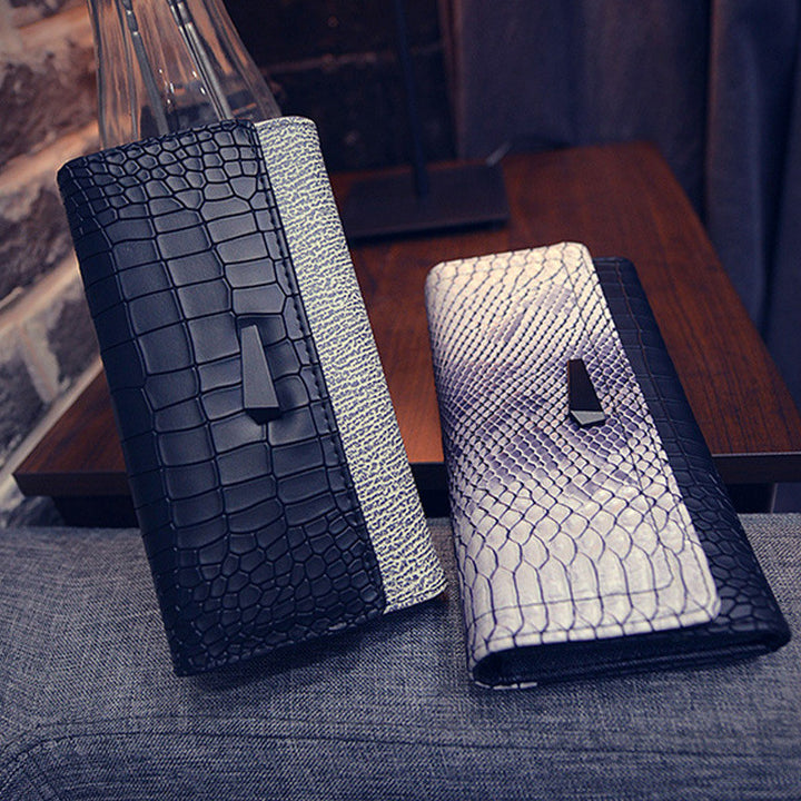 Women's PU Leather Long Design Wallet Purse - Zorket