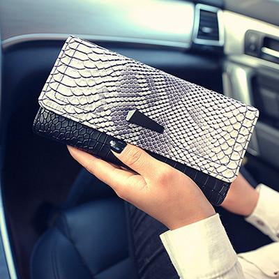 Women's PU Leather Long Design Wallet Purse