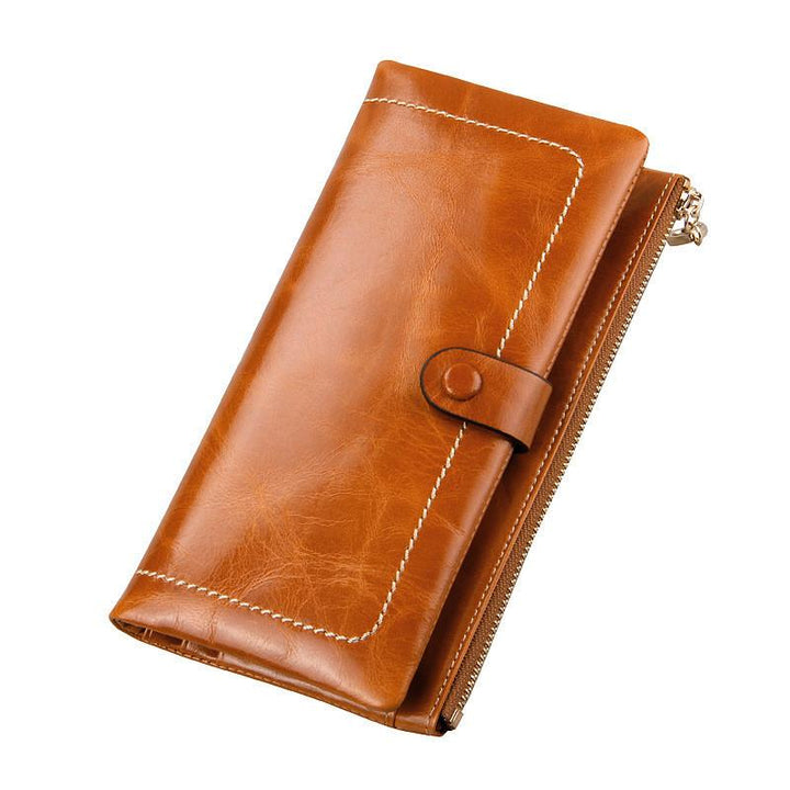 Fashion Genuine Leather Women's Luxury Long Wallet Purse Card Holder