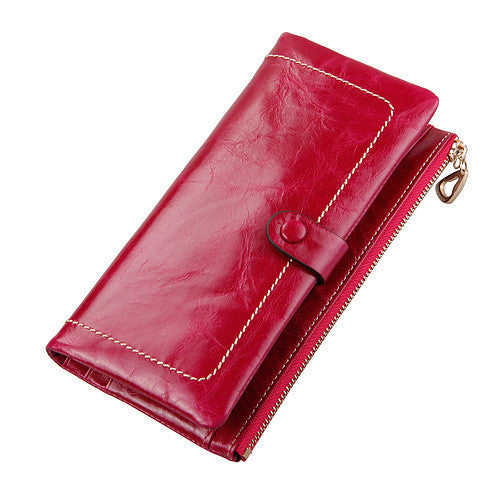 Wallet – Fashion Genuine Leather Women's Luxury Long Wallet Purse Card Holder | Zorket