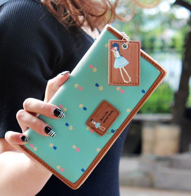 Fashion Cute Women's  PU Leather 6 Colors Wallet Card Holder