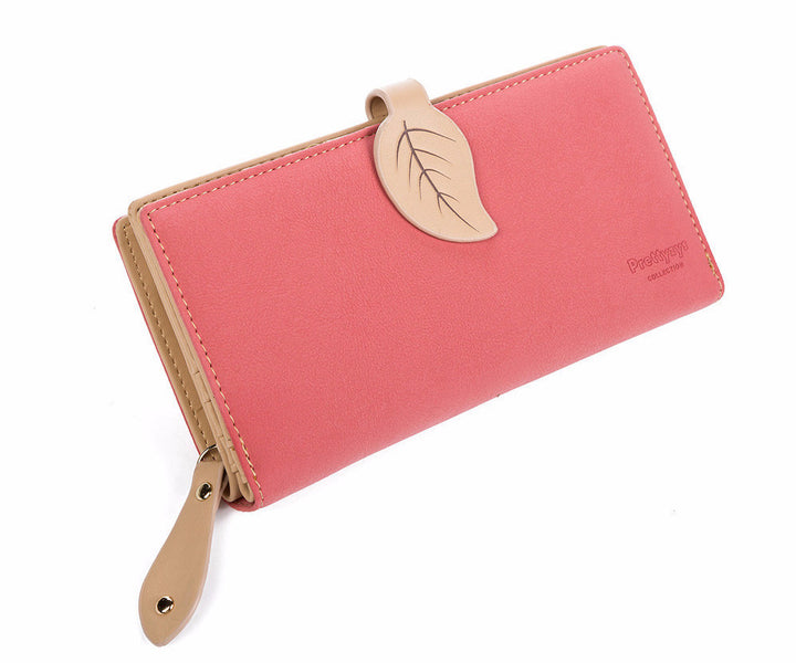 Wallet – Fashion Women's Matte Leather Long Wallet Clutch | Zorket