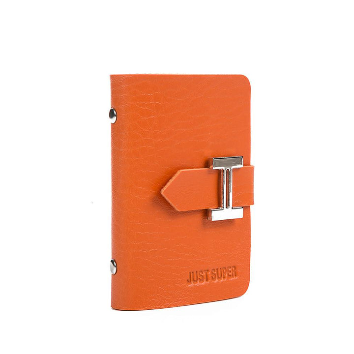Business Simple PU Leather Credit Card Holder ID Holder