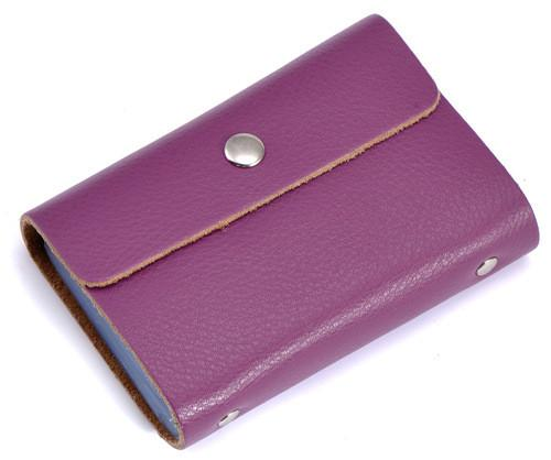 Simple Design Business Genuine Leather Credit Card Holder