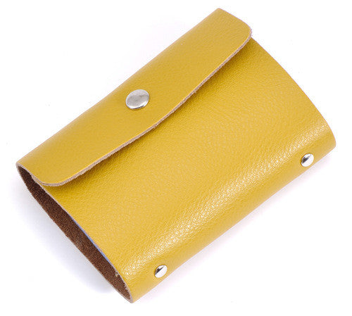 Simple Design Business Genuine Leather Credit Card Holder - Zorket