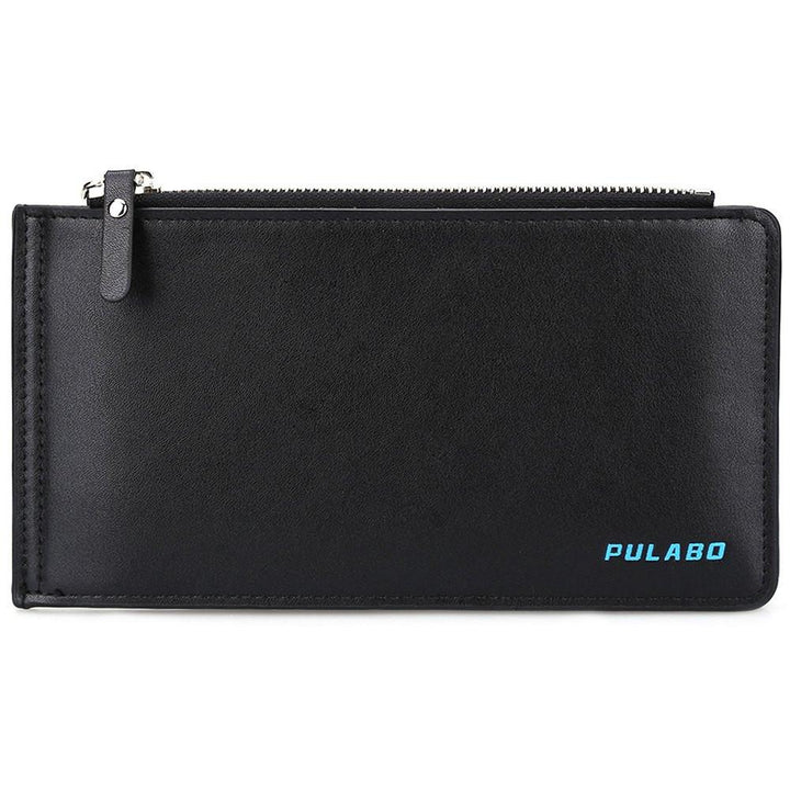 Solid Color Men's Long Purse With Credit ID Card Holder
