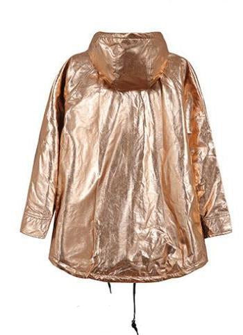 Women's Spring/Autumn Long-Sleeved Loose Golden Raincoat