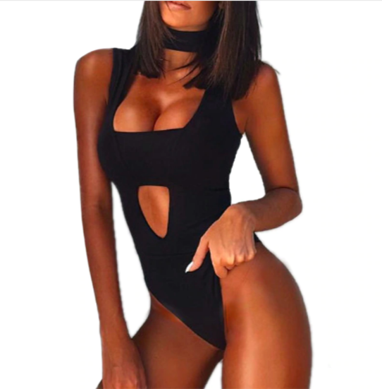 Women's Summer Tight Sleeveless Jumpsuit | One Piece Bodysuit