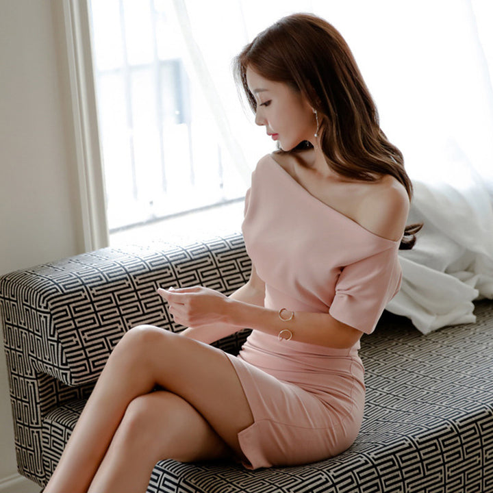 Women's Summer Polyester Sheath High-Waist Mini Dress