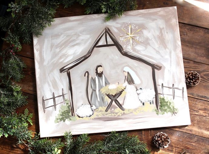 Christmas Nativity Painting
