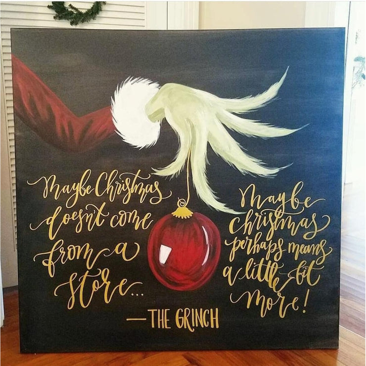 Christmas Doesn't Come From A Store Painting