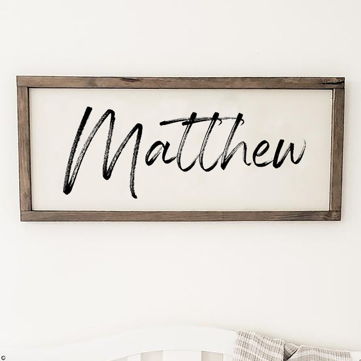 Personalized Nursery Sign | Baby Name Sign