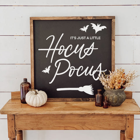 Hocus Pocus Wood Framed Sign