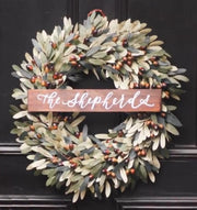 Merry Christmas Wooden Wreath Sign | Wreath Not Included