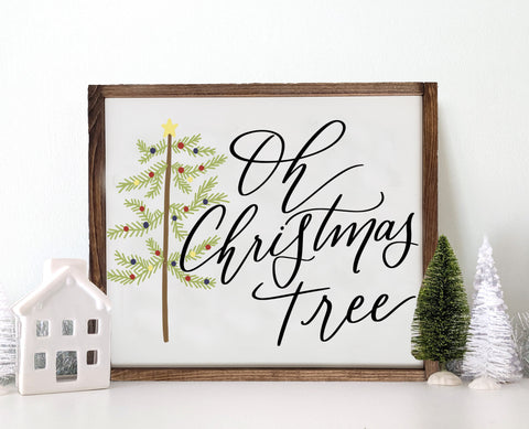 Wooden Oh Christmas Tree Sign