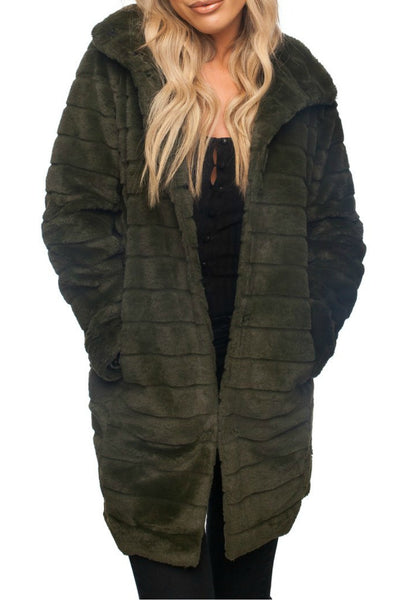Olive Branch Fur Coat
