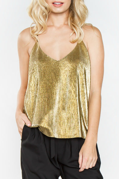 Gold Metallic Top