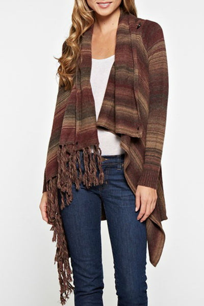 Spacedye Fringe Cardigan