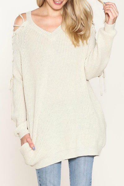 Cozy Tied-Up Sweater
