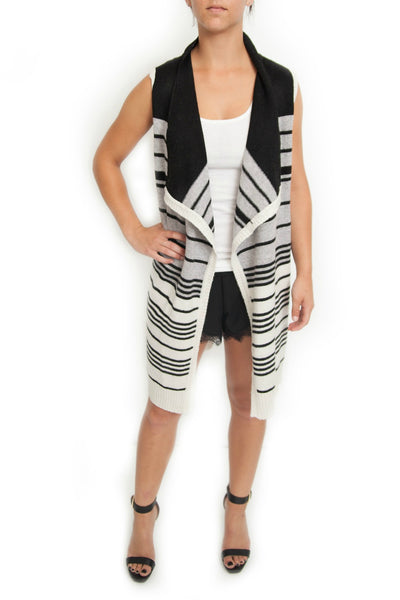 Striped Long Vest