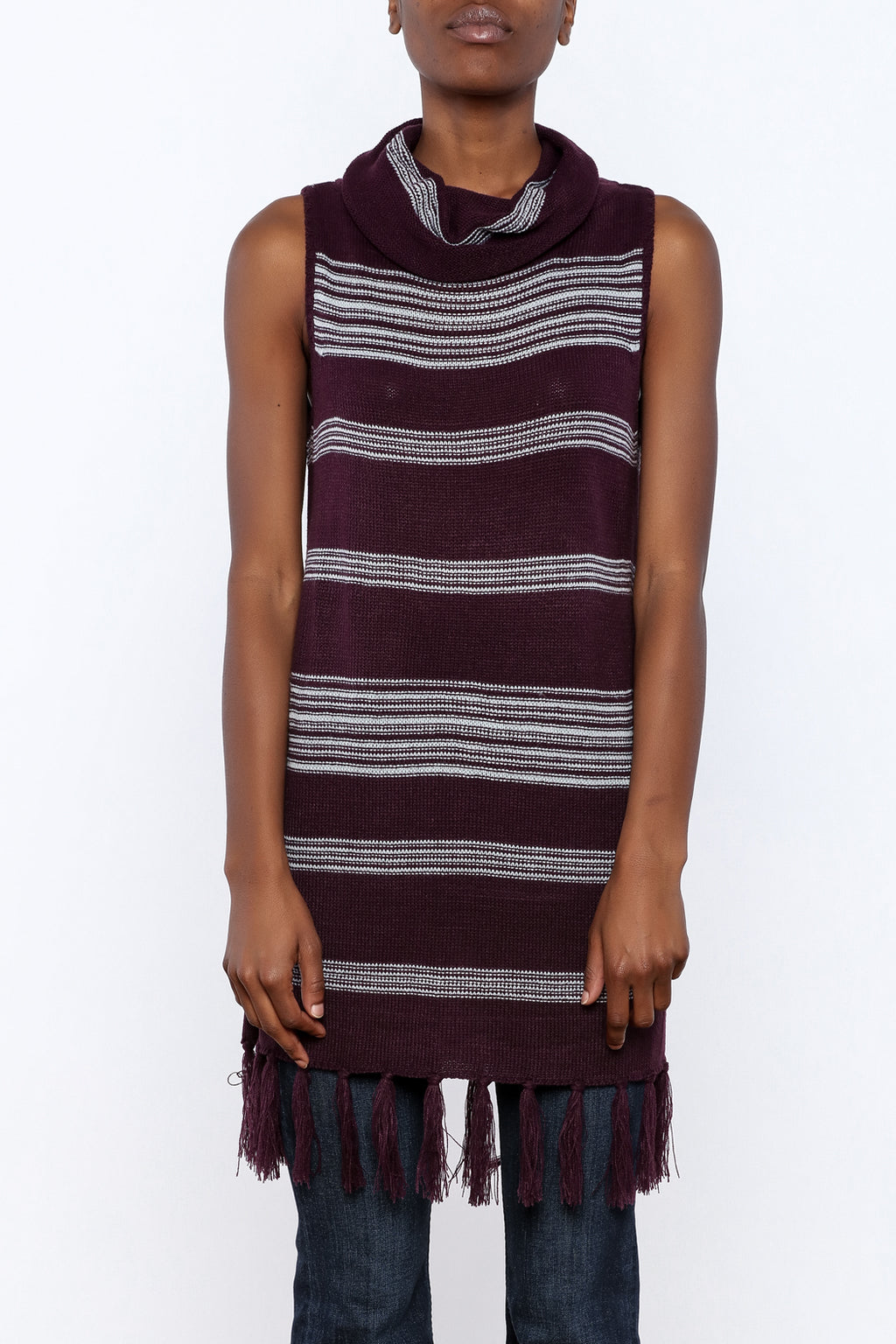Fringe Sleeveless Sweater