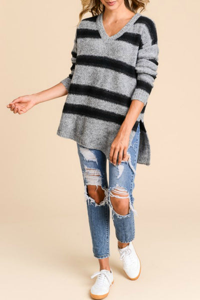 Relaxed Stripe Pullover