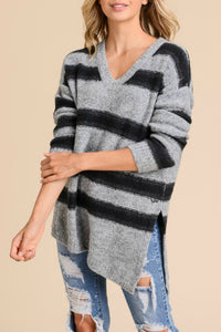 Relaxed Striped Pullover