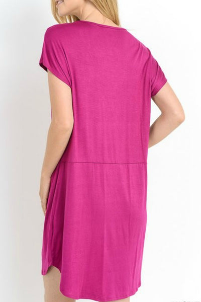 V-neck Pocket Dress