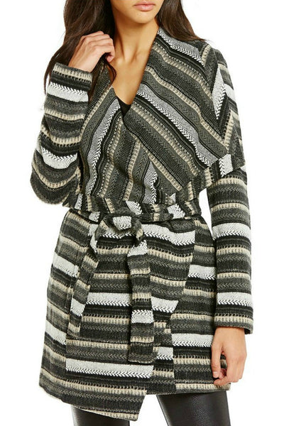 Striped Drape Jacket