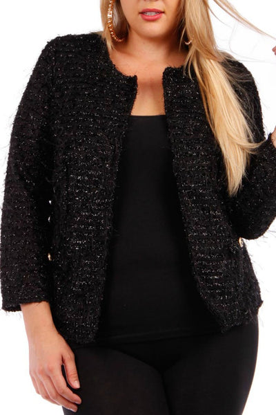Textured Button Blazer