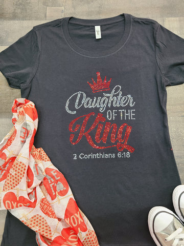 Daughter Of The King Bling Tee -New