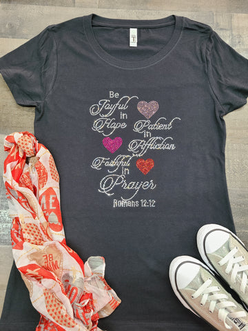 Be Joyful Bling Tee