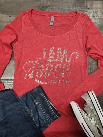 L/S I Am Loved Bling Tee -New