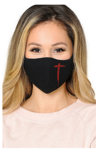 (Black) Modal Antibacterial Face Mask with Filter Pocket