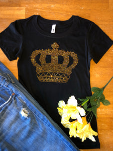 Gold Crown Bling Tee