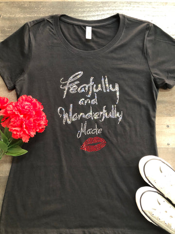Fearfully and Wonderfully Made Bling Tee