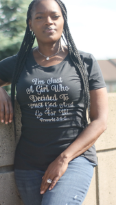 Just A Girl Bling Tee
