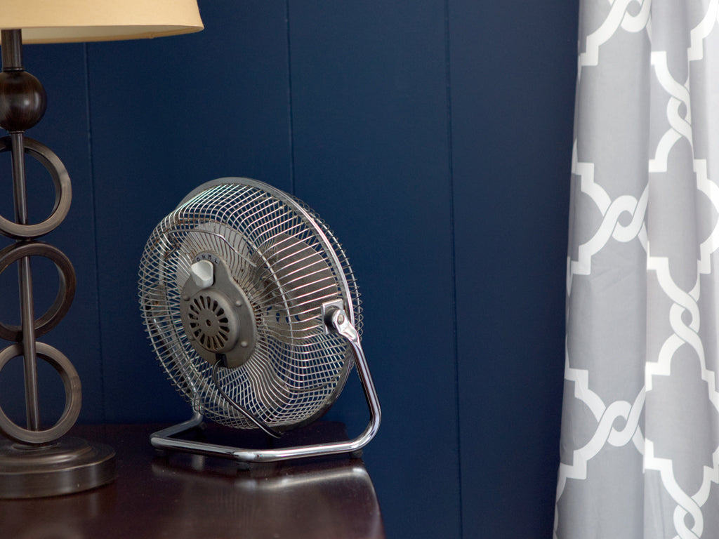 Fan Pointed at Wall