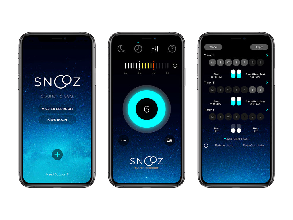 iOS Companion app for SNOOZ White Noise Machine