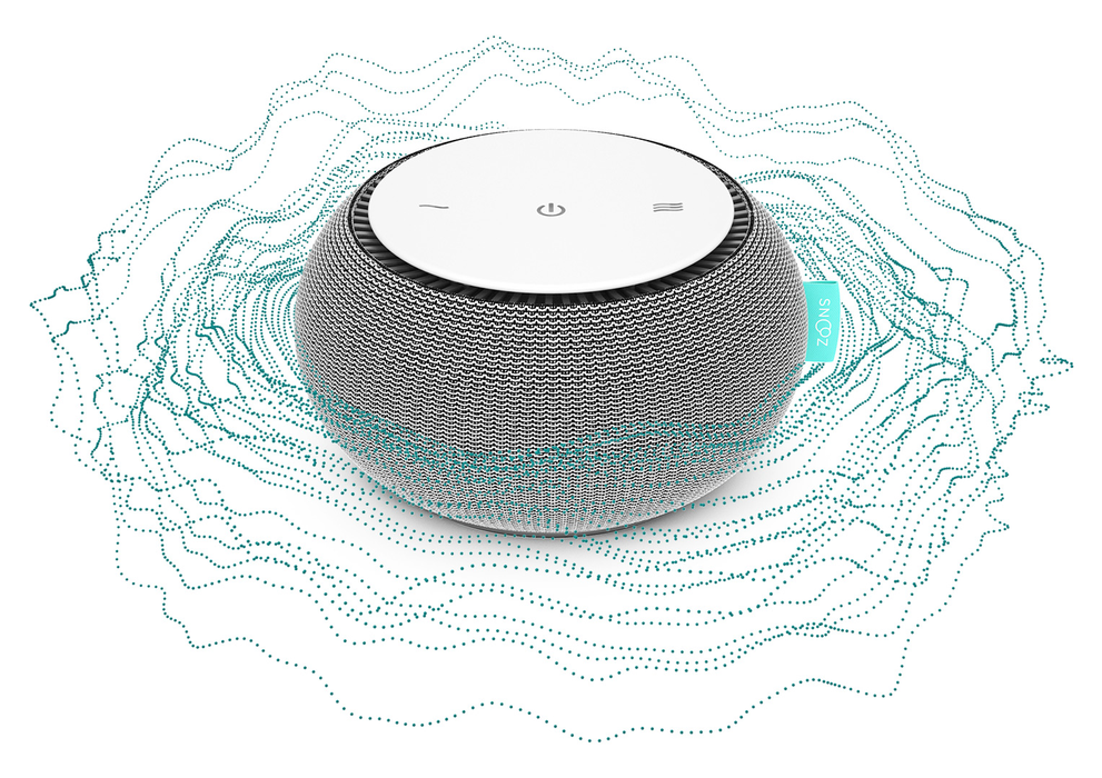 SNOOZ White Noise Sound Machine - Real Fan Inside